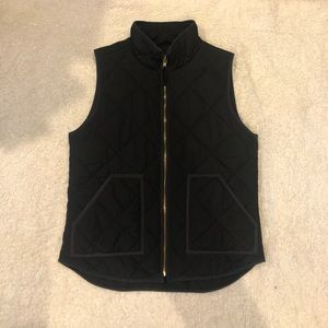 J. Crew Mercantile Quilted Puffer Vest Black